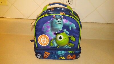 Monsters Inc Kids Insulated Lunchbag Travel Case -New
