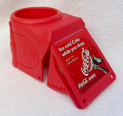 NEW Vintage Original COCA COLA Coke SHOPPING CART BOTTLE CAN HOLDER Ad Decor NOS