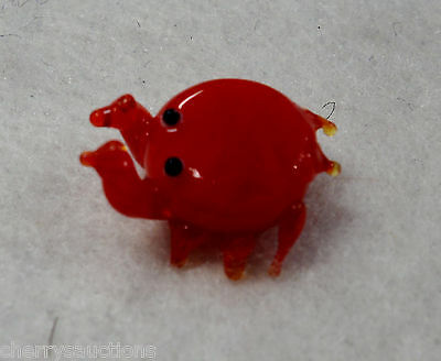 c CRAB MINIATURE GLASS FIGURINE handmade art sea animal mini cancer zodiac sign