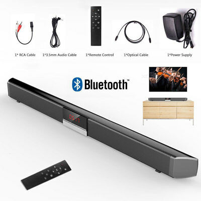 Powerful 40W TV Sound Bar Home Theater Soundbar Subwoofer Coaxial Optical System