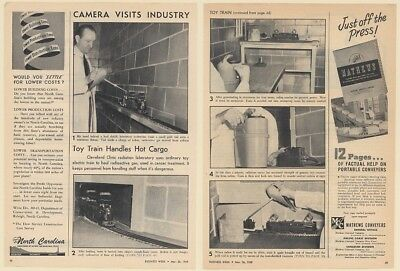 1949 Cleveland Clinic Radiation Lab Use Toy Train Cancer Treatment Photo Article