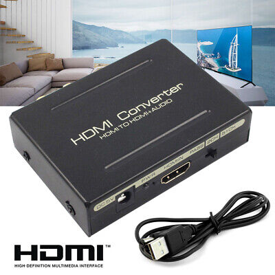 1080P HDMI To HDMI+Optical SPDIF RCA Analog Audio Extractor Converter Splitter