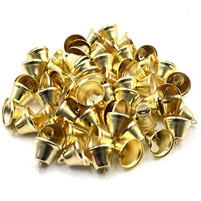 20 pcs Christmas Tree Ringing Jingle Small Bells Charms Jewellery Crafts Gold