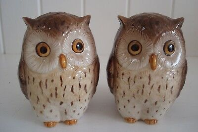 Large Otagiri Owl Salt And Pepper Pots - Japanese Hand-Crafted