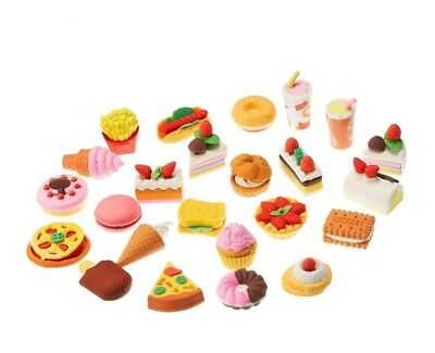 4PCS Pencil Erasers Assorted Food Dessert Puzzle Toys Earsers For Kids Rubber