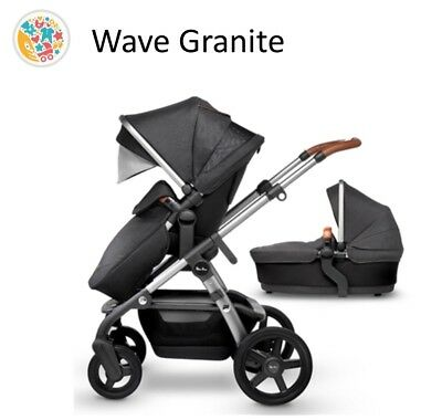 Silver Cross Wave pram system in Granite RRP £1100 free next day delivery UK