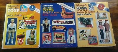Vintage Collectible Toys Book Lot of 3 Schroeders Antique To Modern Price Guide