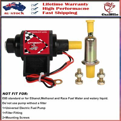 CarBole Electric Gasoline Fuel Pump Universal 5/16 inch Inlet and Outlet 12V AU