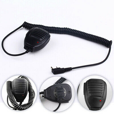 2 Pin Speaker Microphone MIC Radio Walkie Talkie FR BAOFENG UV-5R BF-888S Black