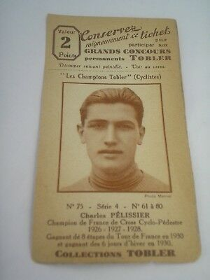 ticket chocolat TOBLER , cyclisme ciclismo CHARLES PELISSIER , TOUR DE FRANCE 30