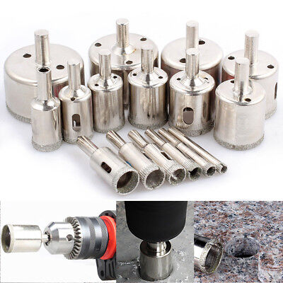 16pcs Diamond Cutter Hole Saw Drill Bit Tool 6-50mm Set For Tile Ceramic Glass