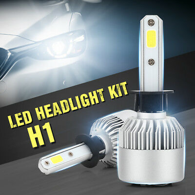 H1 200W 30000LM CREE LED Headlight Car Driving Lamp Hi Lo Beam Bulb 6500K LD1031