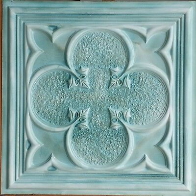 Decor Ceiling 2x2 Faux tin painting greenish cafe bar wall panel 10tile/lot PL35