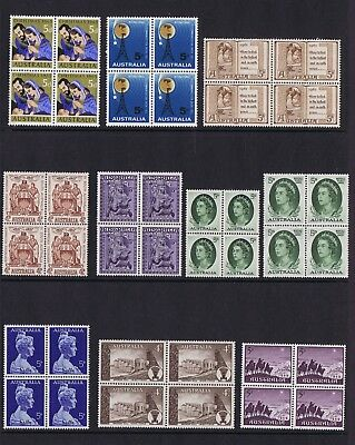 #BL003) Pre-Decimal Stamps 10 Blocks 4 MNH, All Different SET 3 of 4 **WOW!!