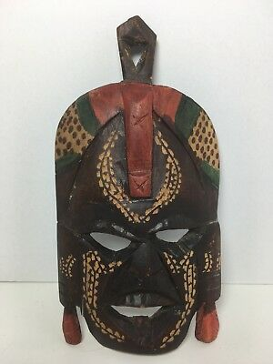 """Handcrafted African Wood Mask 5.25"""" Home Tribal Wall Decor"""