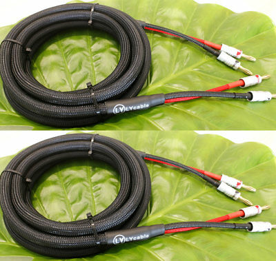 Audiophile Hiend hifi Audio Banana Plug AMP Speaker Cable wire 12AWG 10AWG Gauge
