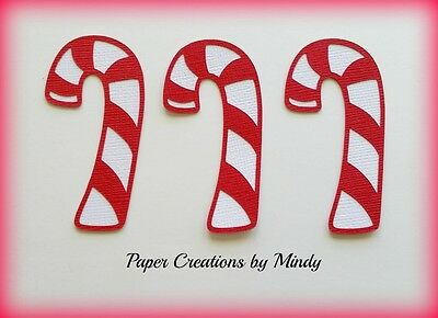 CRAFTECAFE MINDY CANDY CANE CHRISTMAS DIE CUT premade paper piecing scrapbook
