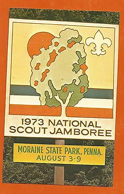 Scout Bsa 1973 National Jamboree Moraine State Park Pa Post Card Postcard Mail !