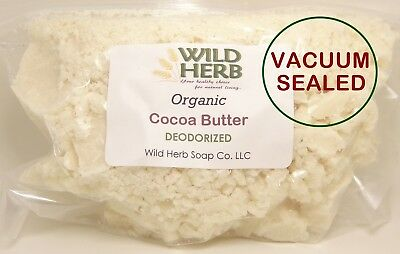 DEODORIZED COCOA BUTTER | ORGANIC | Naturally Refined | High Grade FAST SHIPPING