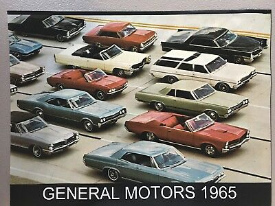 1965 General Motors Chevrolet Pontiac Olds Buick Caddy 12X17 Inch Photo Poster