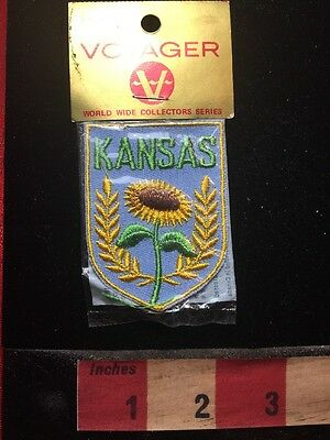 Voyager Brand Collectible Patch Unopened State Of Kansas Flower SUNFLOWER 67VV
