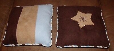 boys crib nursery decorative pillows set of two by geenny