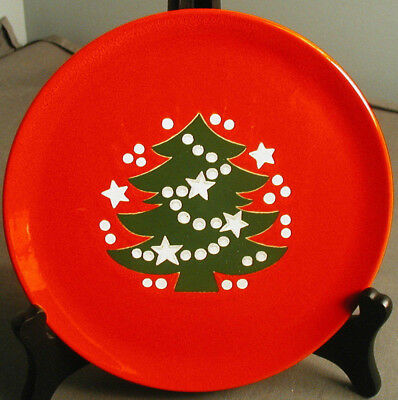 "CHRISTMAS TREE BY WAECHTERSBACH GERMANY - 7 3/4"" SALAD PLATE - W GERMANY -  vh"