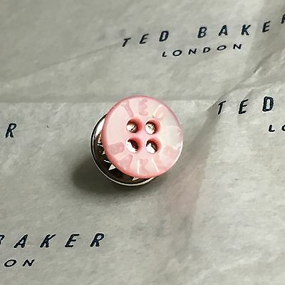 0f56f57369bb TED BAKER Tie Lapel Pin Tack ROSE PINK Mother of Pearl Shirt Buttons Mens  Gift