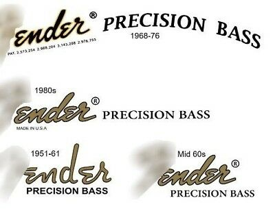 Four Assorted  Bass Waterslide Headstock decals