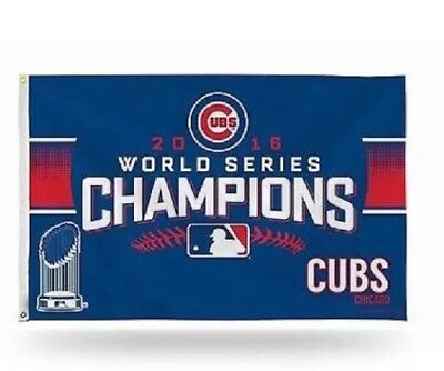 2016 Chicago Cubs World Series Champion Flag 3X5 Feet New In Package