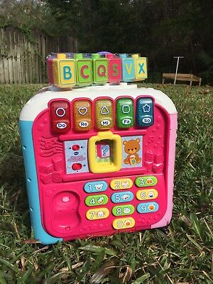Vtech Pink Alphabet Activity Cube Pink With Letter Cubes And Phone