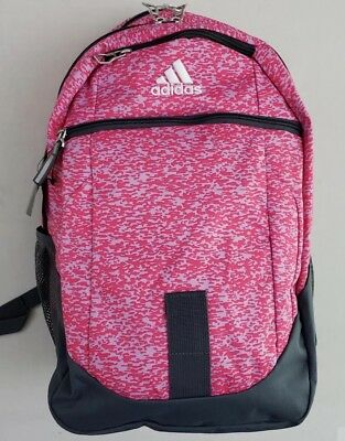 Adidas Foundation IV Laptop Pink Purple Backpack Media Pocket DURABLE  LIFETIME 65b36b1f2a568