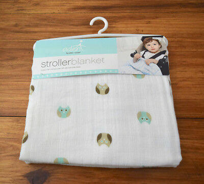 NWT New Aden + Anais Muslin Stroller Swaddle Blanket Goodnight Owl