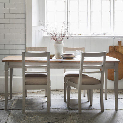 Gallery Direct Bronte Extending Dining Table & Chairs Taupe