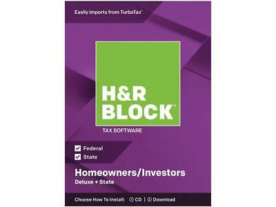 H&R BLOCK Tax Software Deluxe + State 2018 - Brand New retail box