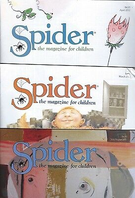 Lot of 3 Spider Magazines for Children from Cricket Group Ladybug Fully Intact!