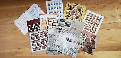 200 Forever Stamps under Face Value Full Panes, Many Varieties