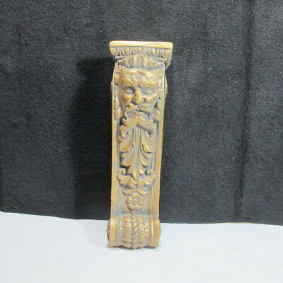 Bearded Mountain Man Face Corbel Bracket Shelf Architectural Accent Protector