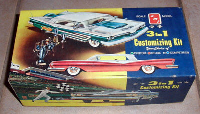 60 year old AMT 1959 Pontiac Bonneville  3in1 customizing kit MINT MINT