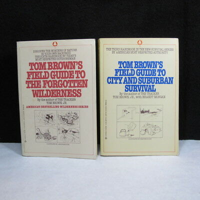 Pair of Tom Brown's Field Guide to Survival 3rd and 6th Handbooks
