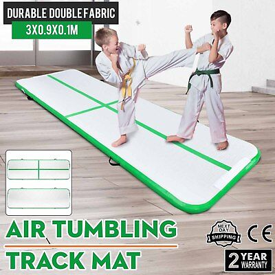 10Ft Air Track Floor Tumbling Inflatable Gym Mat Training Portable Fitness
