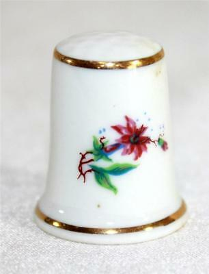 Vintage Hollohaza of Hungary Collectible Souvenir Thimble Handpainted Floral