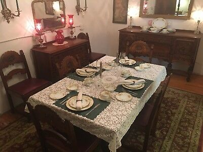 Antique Jacobean Dining Room Set