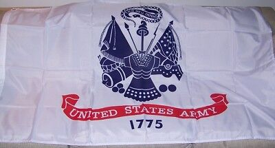 United States ARMY Official Military Insignia Logo Flag Print Polyester 3x5 ft