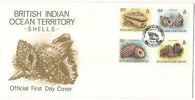 Ersttagsbrief FDC British Indian Ocean Territory 1996, Muscheln