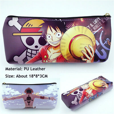 Anime One Piece Luffy Zipper Pen Pencil Case Make Up Cosmetic Bags Fans Cos Gift