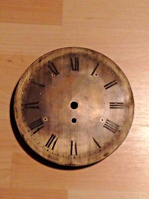 Silvered Gillett clock dial, 9 inches diameter for restoration / refurbishment
