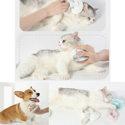 Folding Pet Puppy Dog Cat Hair Shedding Grooming Trimmer Comb Brush