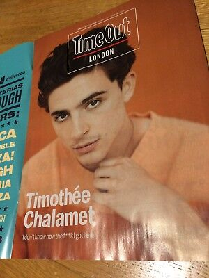 Timothée Chalamet Rare Uk Magazine Time Out London Oct 2018 Call Me By Your Name