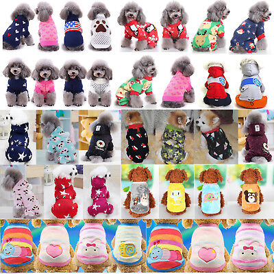Winter Knit Coat Hoodies New Apparel Clothes Warm Jumpsuit Dogs Cats Puppy Pet